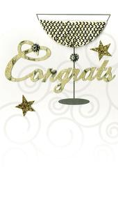 Congrats Congratulations Luxury Champagne Greeting Card