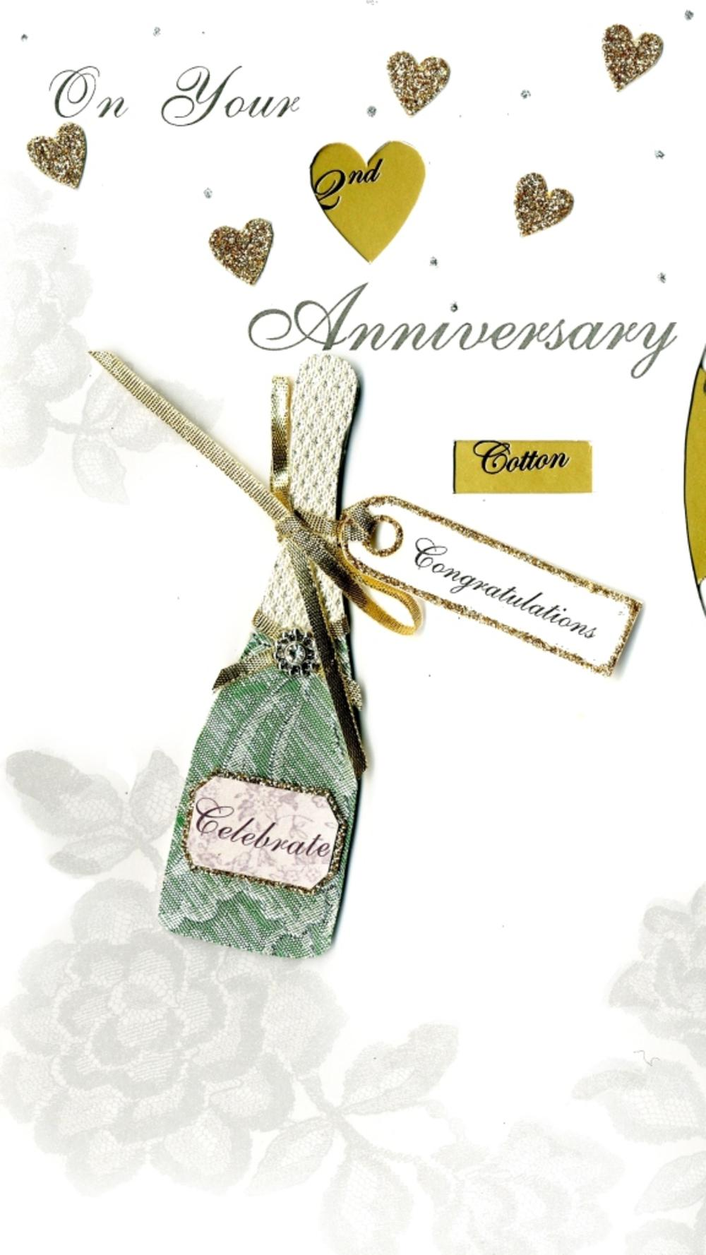 1st to 15th Anniversary Card Luxury Champagne Greeting Card