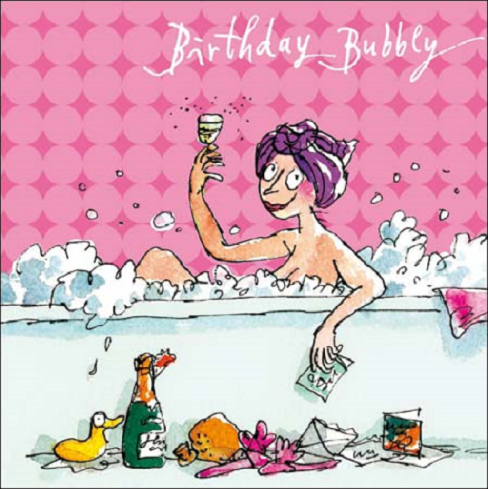 Quentin Blake Bubbly Birthday Female Greeting Card