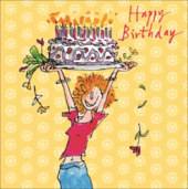 Quentin Blake Big Cake Happy Birthday Greeting Card