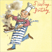 Quentin Blake Sizzling Happy Birthday Greeting Card