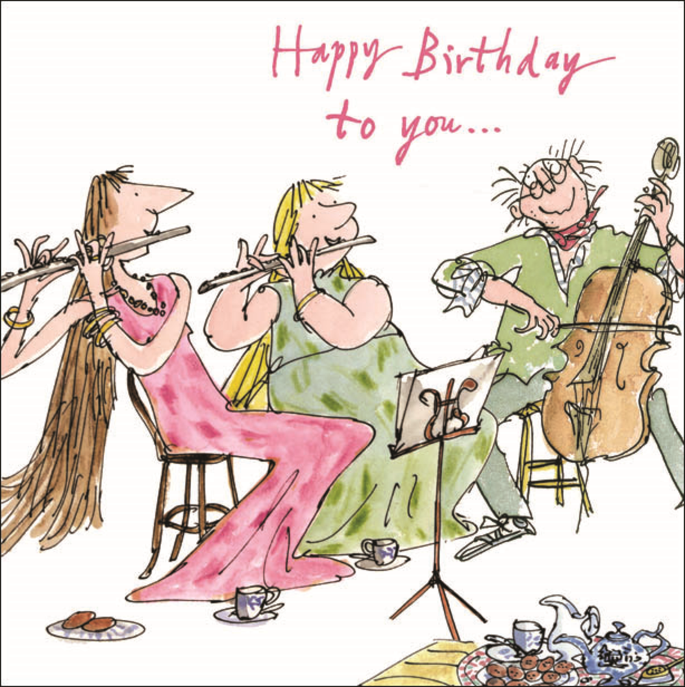 Quentin Blake Happy Birthday To You Greeting Card