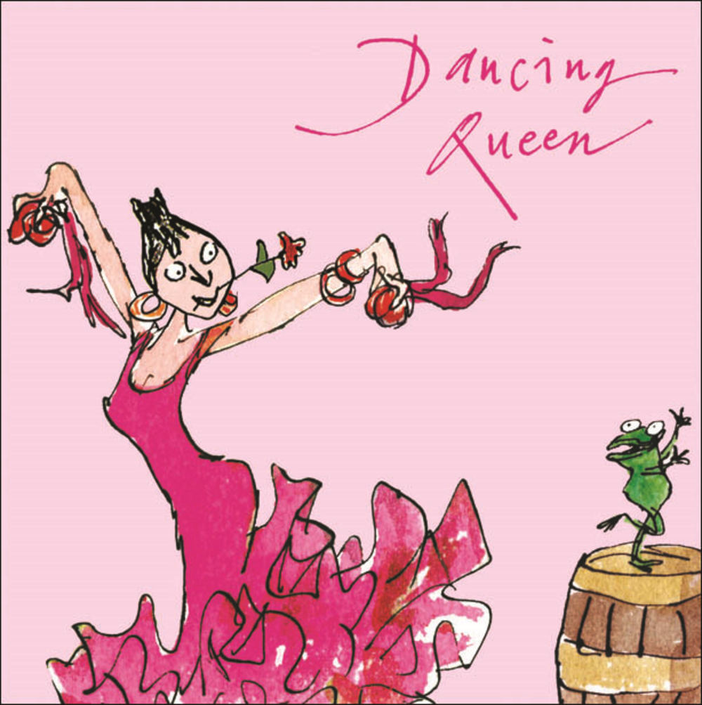 Quentin Blake Dancing Queen Happy Birthday Greeting Card