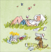 Quentin Blake Female Happy Birthday Greeting Card