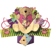 Bear With Heart Pop-Up Greeting Card