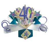 40th Birthday Pop-Up Greeting Card