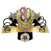 80th Birthday Pop-Up Greeting Card