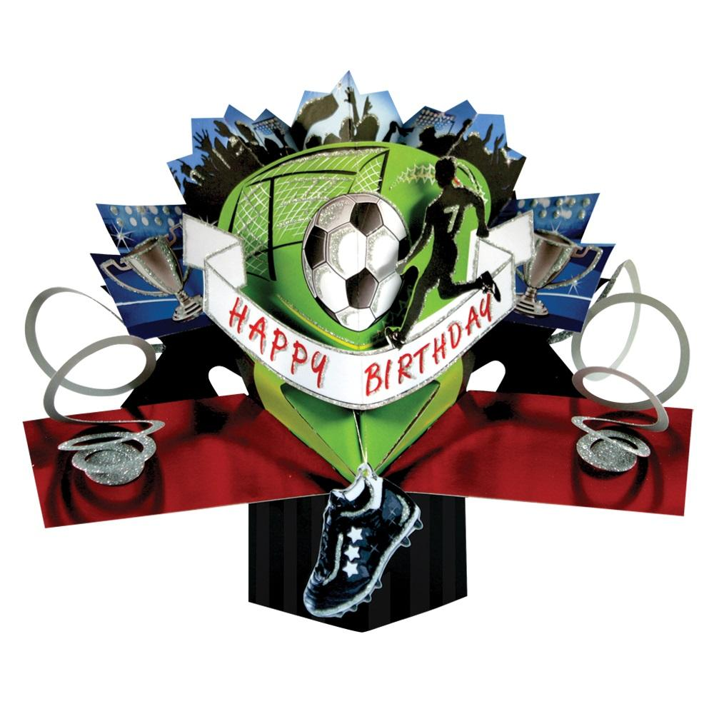 Football Birthday Pop-Up Greeting Card