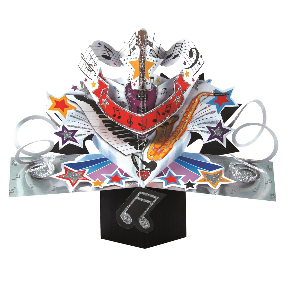 Musical Instruments Pop-Up Greeting Card