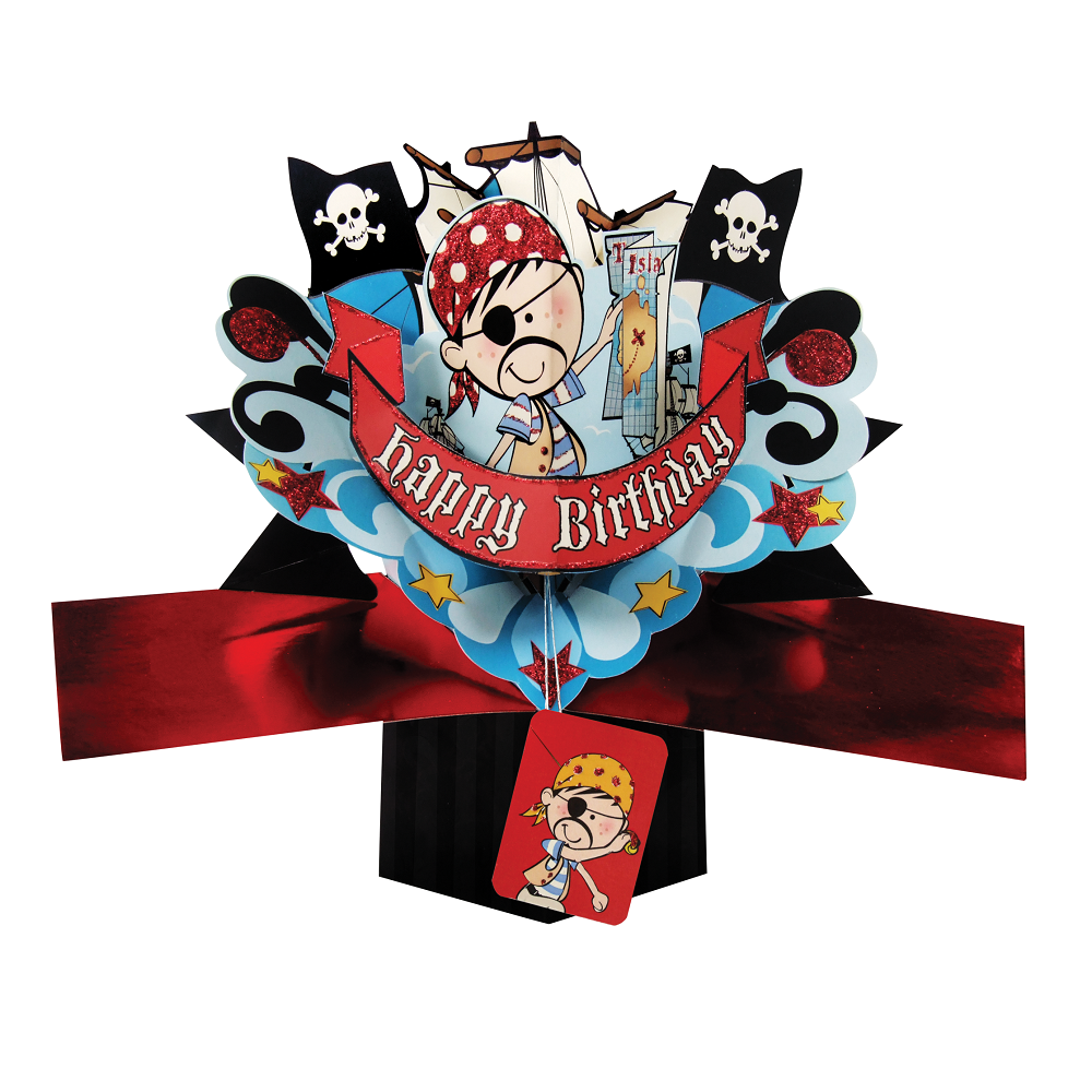 Pirate Birthday Pop-Up Greeting Card