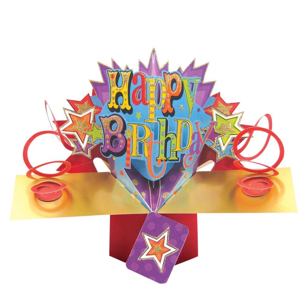 Happy Birthday Pop-Up Greeting Card