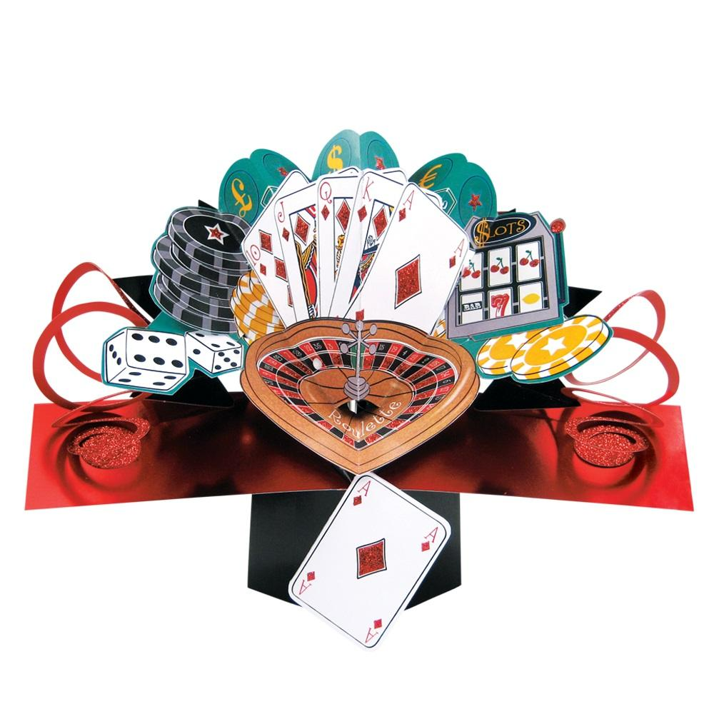 Gambling Ace Pop-Up Greeting Card
