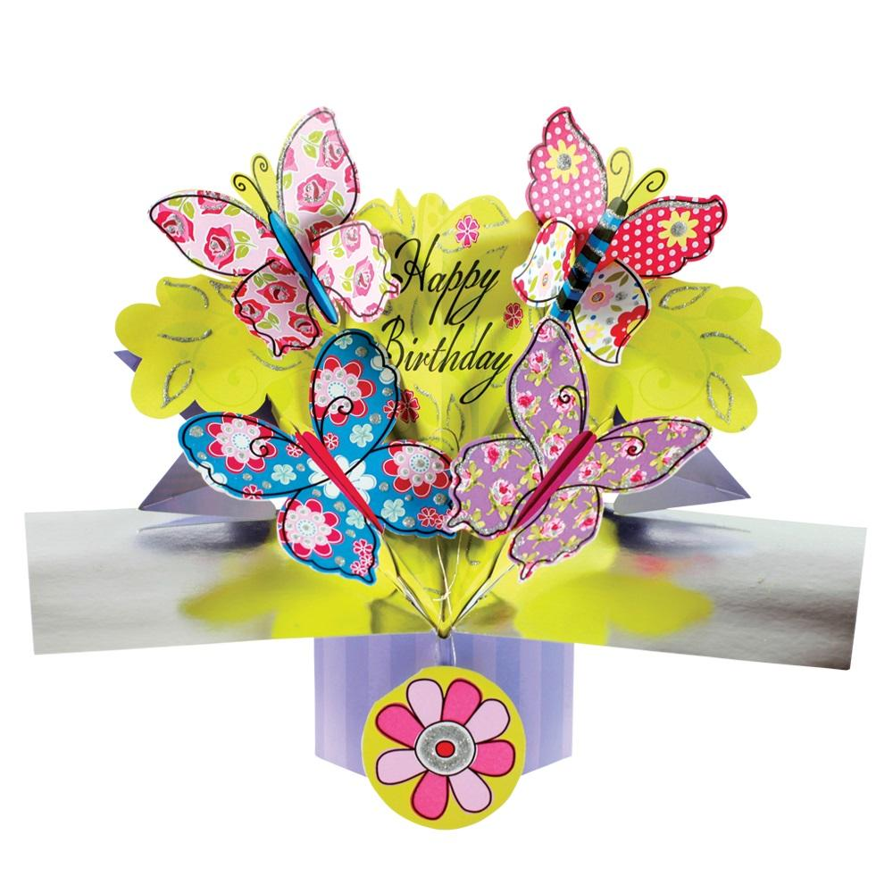 Happy Birthday Butterfly Pop-Up Greeting Card | Cards ...