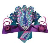 Pretty Peacock Pop-Up Greeting Card