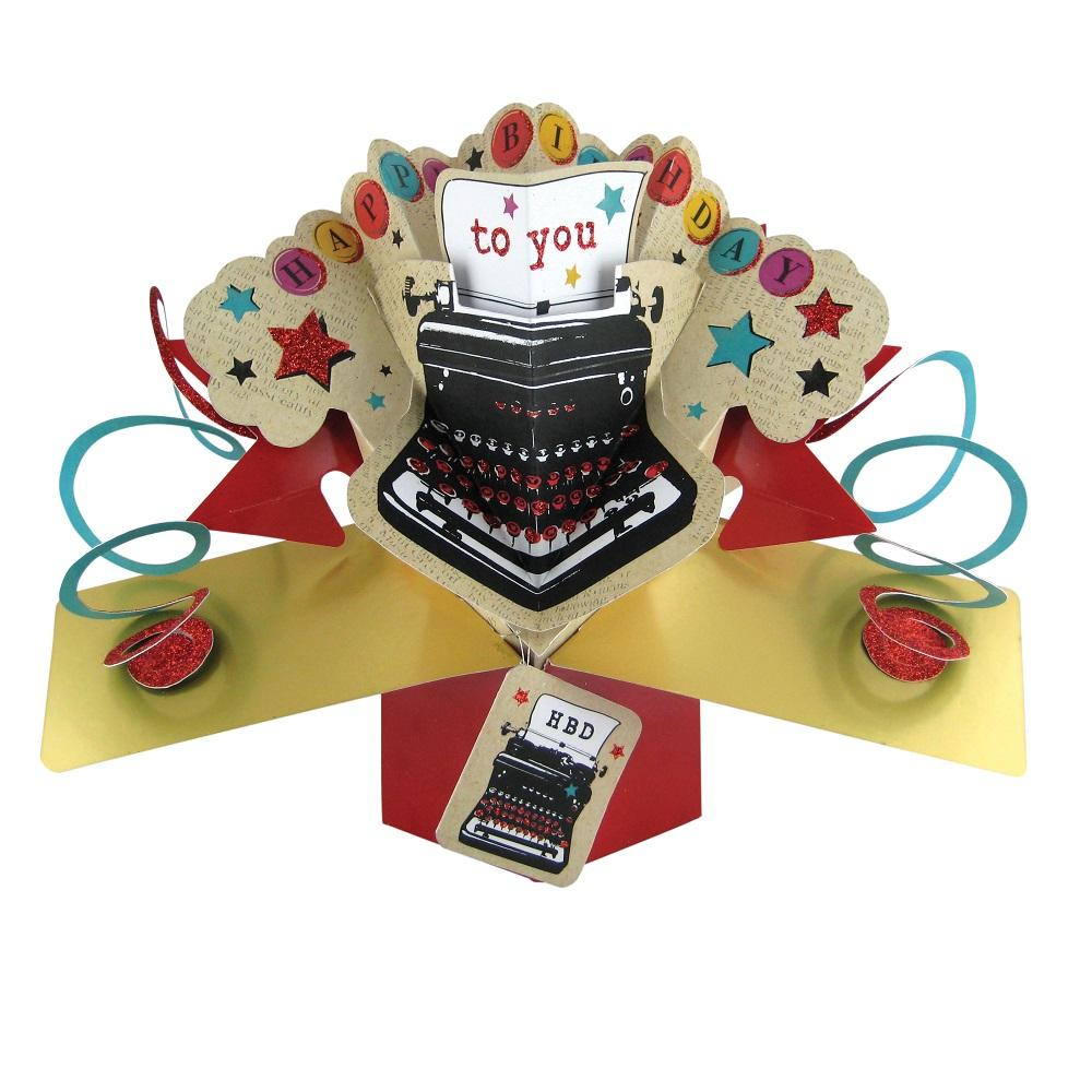 Happy Birthday To You Pop-Up Greeting Card
