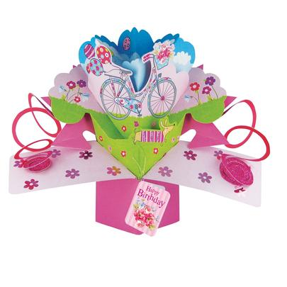 Happy Birthday Bike Pop-Up Greeting Card