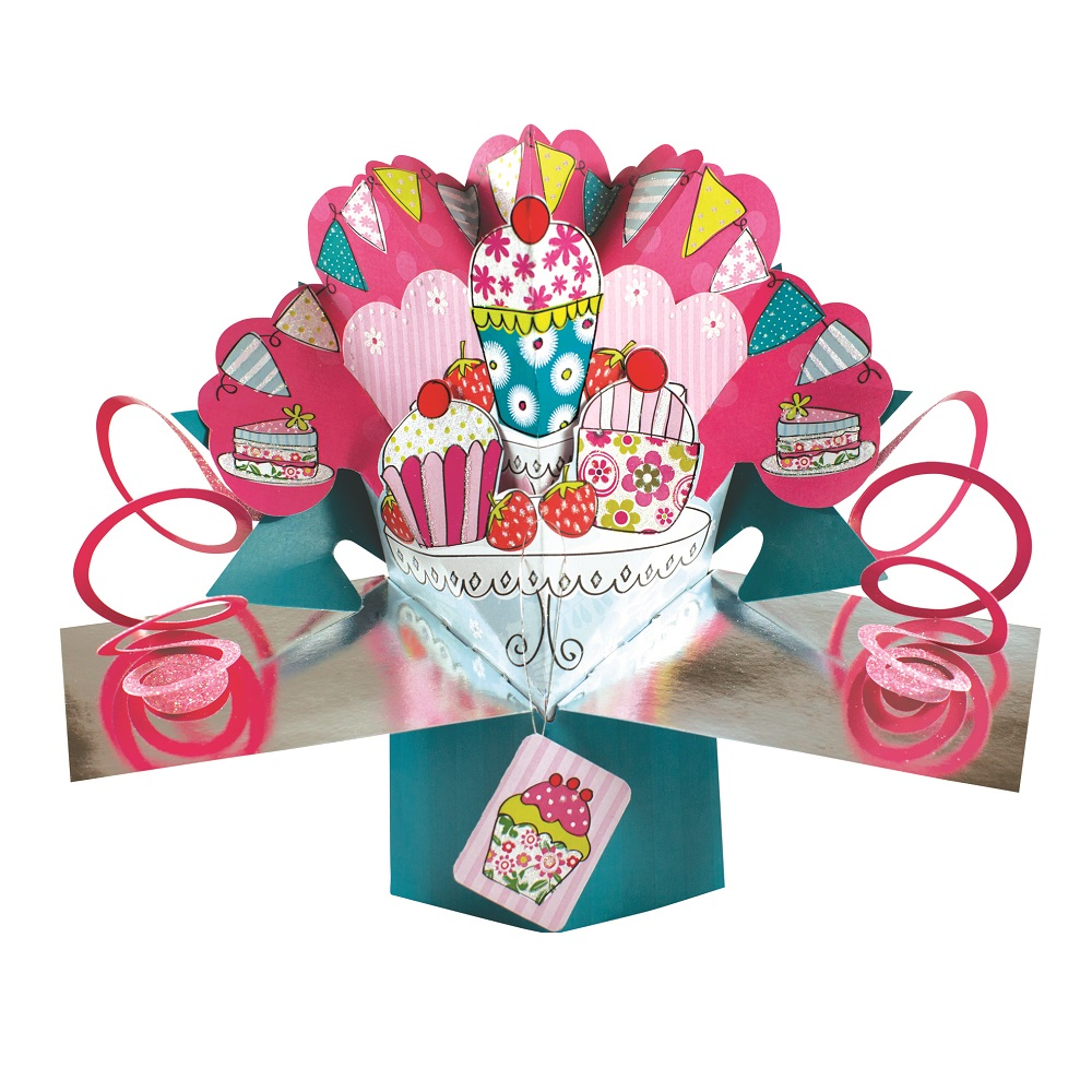 Cupcake & Bunting Pop-Up Greeting Card