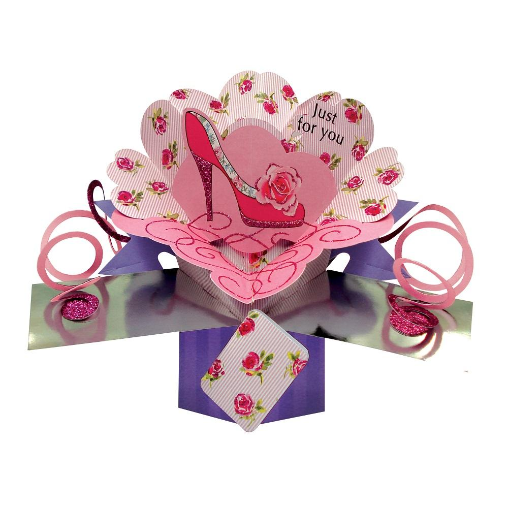 Just For You Pretty Pop-Up Greeting Card