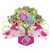 Owls Birthday Pop-Up Greeting Card