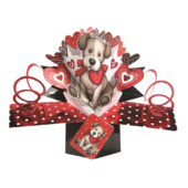 Puppy Love Pop-Up Greeting Card