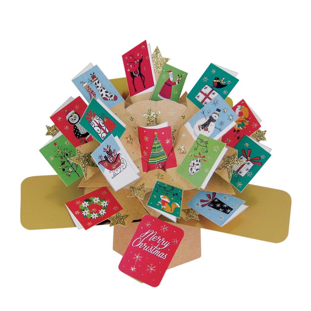 Merry Christmas Petite Pop-Up Greeting Card