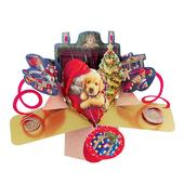 Santa & Dog Petite Christmas Pop-Up Greeting Card