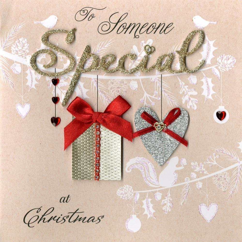 Someone Special Luxury Boxed Christmas Card Cards – Birthday Card for Someone Special