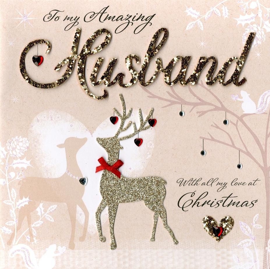 Wonderful Husband Luxury Boxed Christmas Card Cards