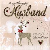 Wonderful Husband Luxury Boxed Christmas Card