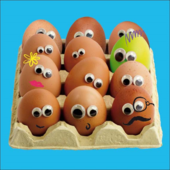 Eggshibitionist Square Photo Greeting Card Blank Inside