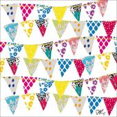 Kirstie Allsopp Bunting Square Greeting Card Blank Inside