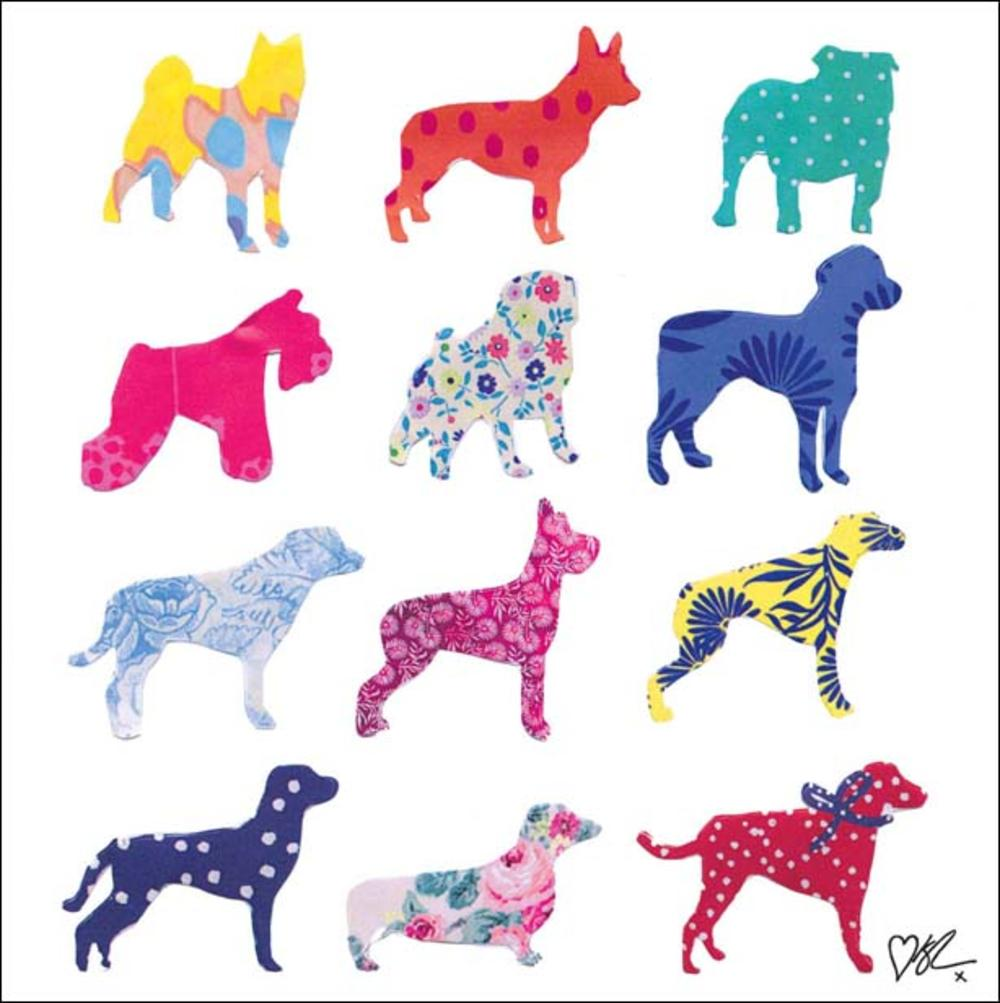 Kirstie Allsopp Dogs Square Greeting Card Blank Inside