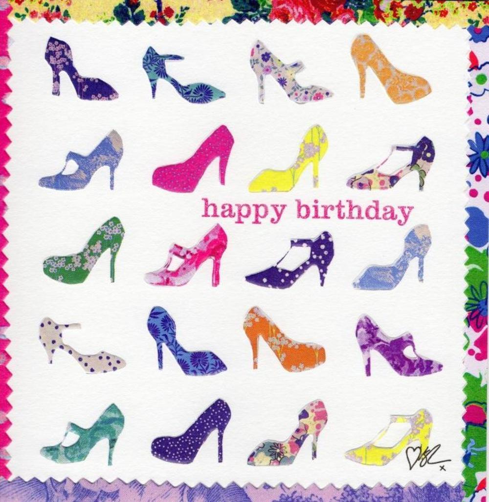 Kirstie Allsopp Shoes Square Birthday Greeting Card