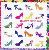 Kirstie Allsopp Shoes Square Birthday Greeting Card