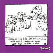 Puppies For Sale Square Cartoon Humour Greeting Card