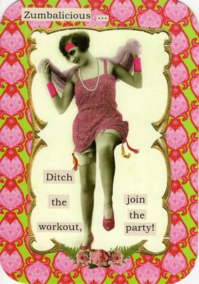 Zumbalicious Join The Party Greeting Card Blank Inside