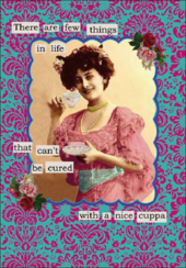 Cured With A Nice Cuppa Greeting Card Blank Inside