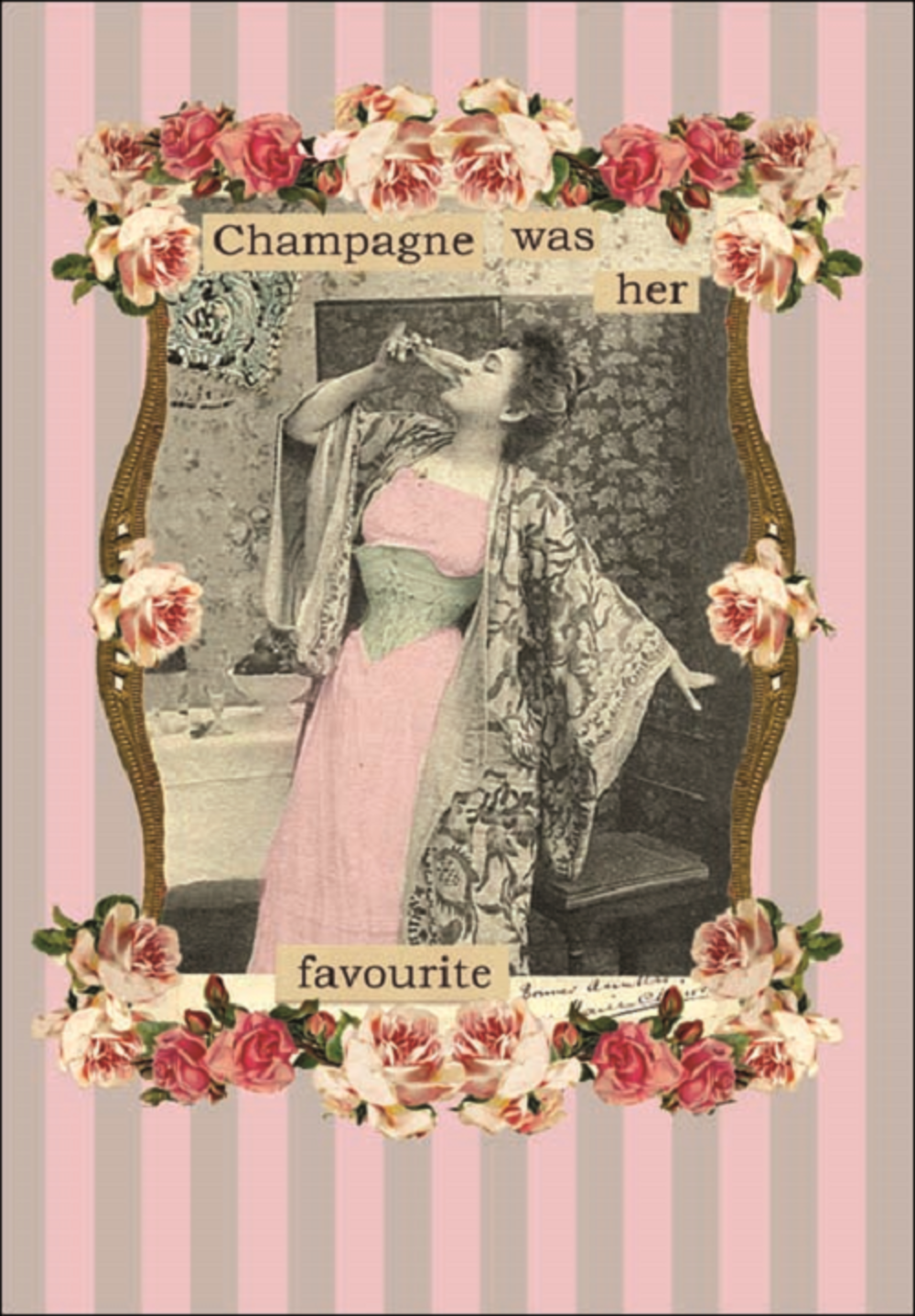 Champagne Was Her Favourite Greeting Card Blank Inside