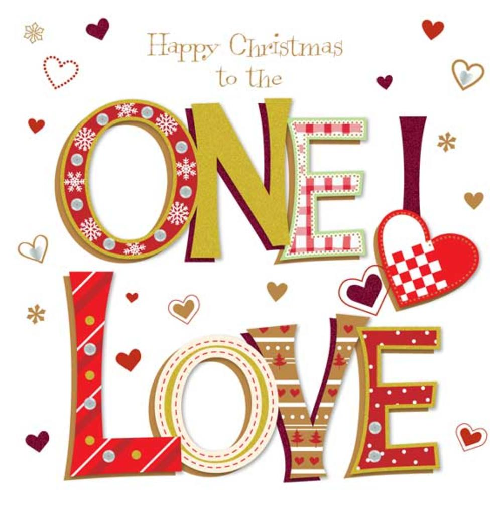 Happy Christmas To The One I Love Large Greeting Card Cards Love