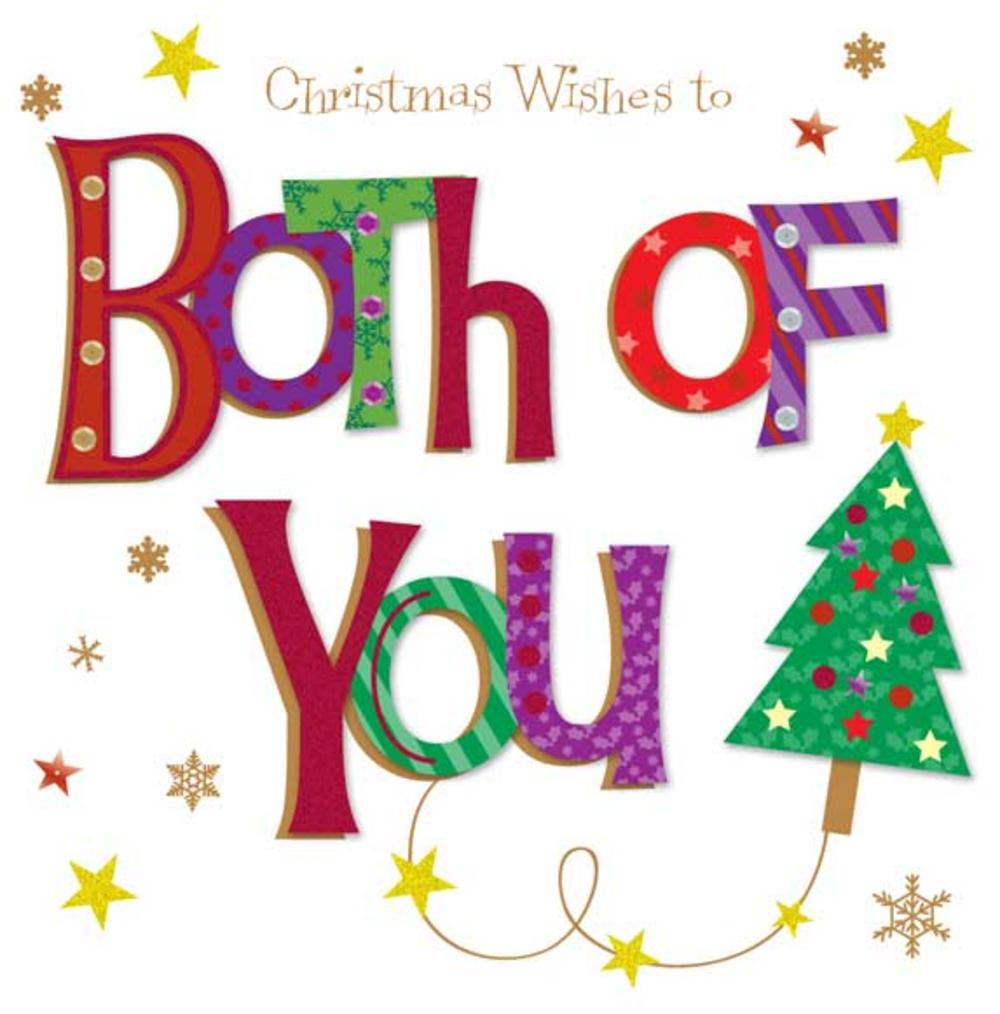 Christmas Wishes To Both Of You Large Greeting Card