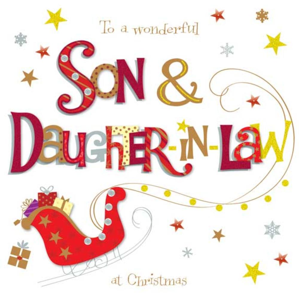 Son & Daughter-In-Law Large Christmas Greeting Card