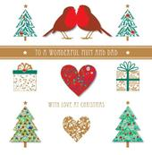 To Mum & Dad Christmas Large Greeting Card