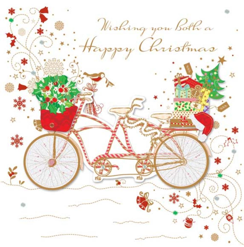 Wishing You Both A Happy Christmas Greeting Card