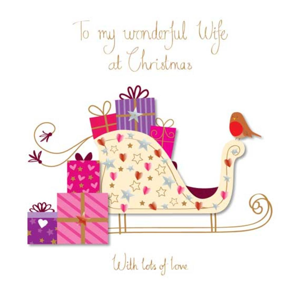 To My Wife Large Christmas Greeting Card