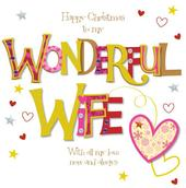 Wonderful Wife Large Christmas Greeting Card