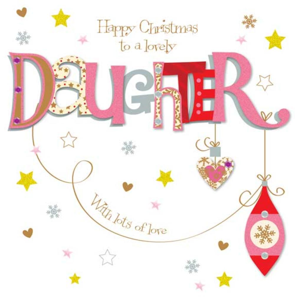 Lovely Daughter Large Christmas Greeting Card