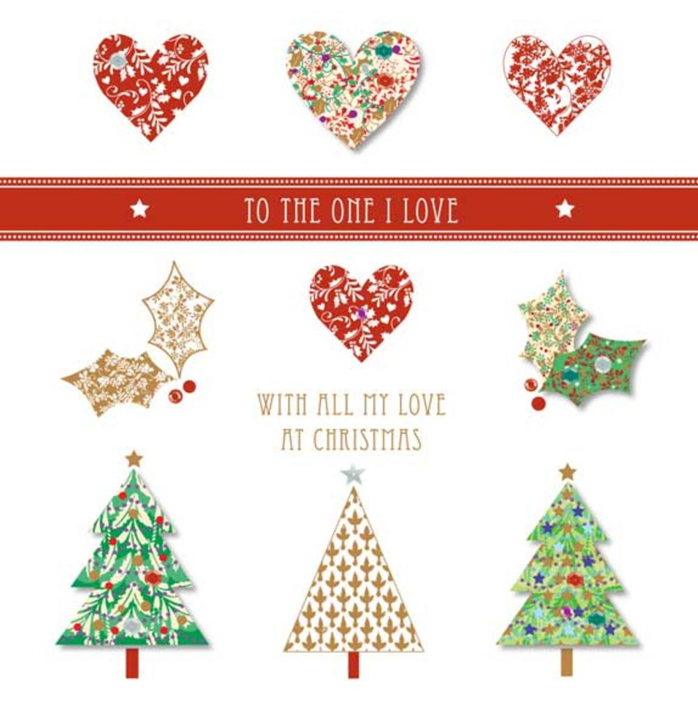 To One I Love Christmas Large Greeting Card