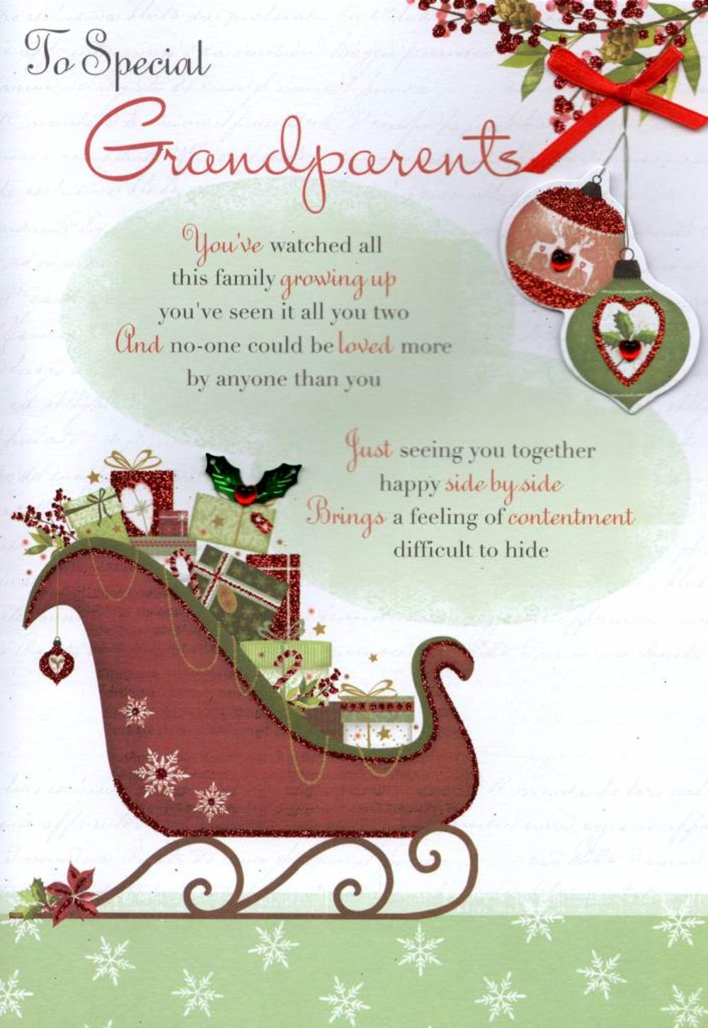 To Special Grandparents Christmas Greeting Card