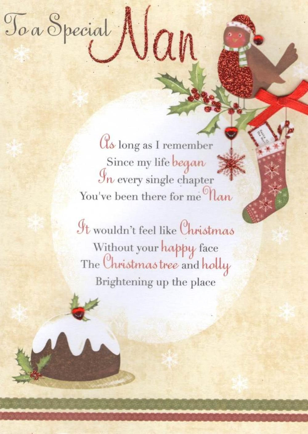 To A Special Nan Christmas Greeting Card | Cards
