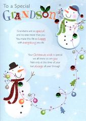 To A Special Grandson Christmas Greeting Card